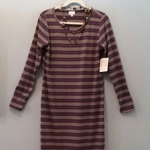 Purple Striped LuLaRoe Debbie Dress XL